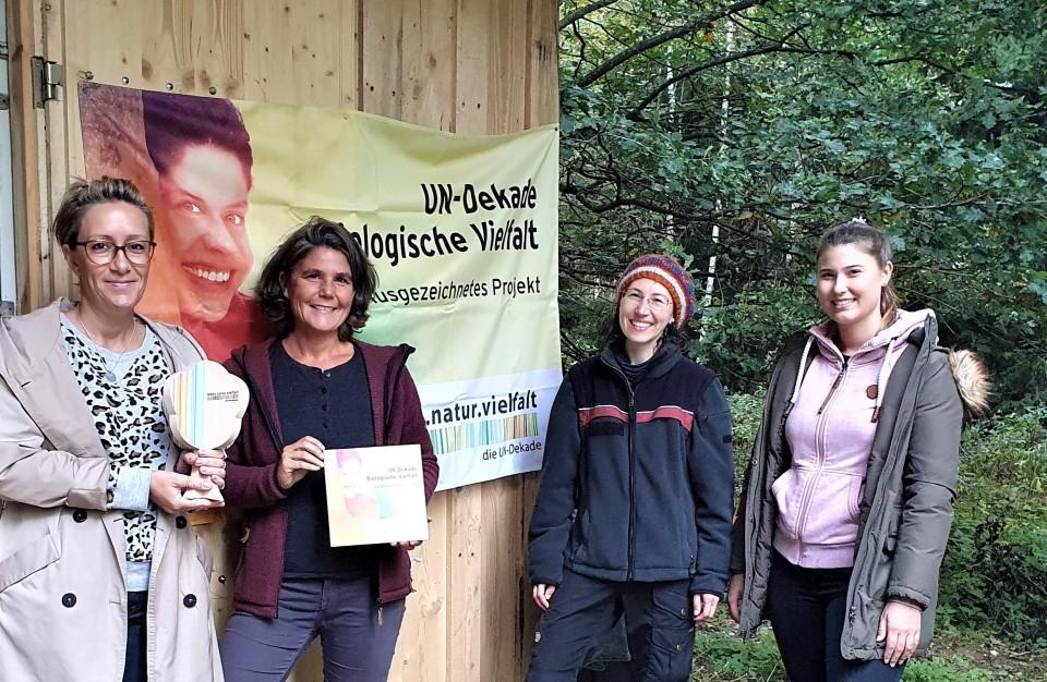 Die A.p.e. e.V. Projekte NaturSinn & WaldArt wurden als offizielles Projekt der UN-Dekade Biologische Vielfalt ausgezeichnet